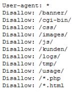 Wie eine Robots txt Datei aussieht